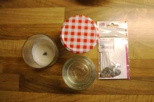 Kerzen aus Wachsresten selber machen - Material