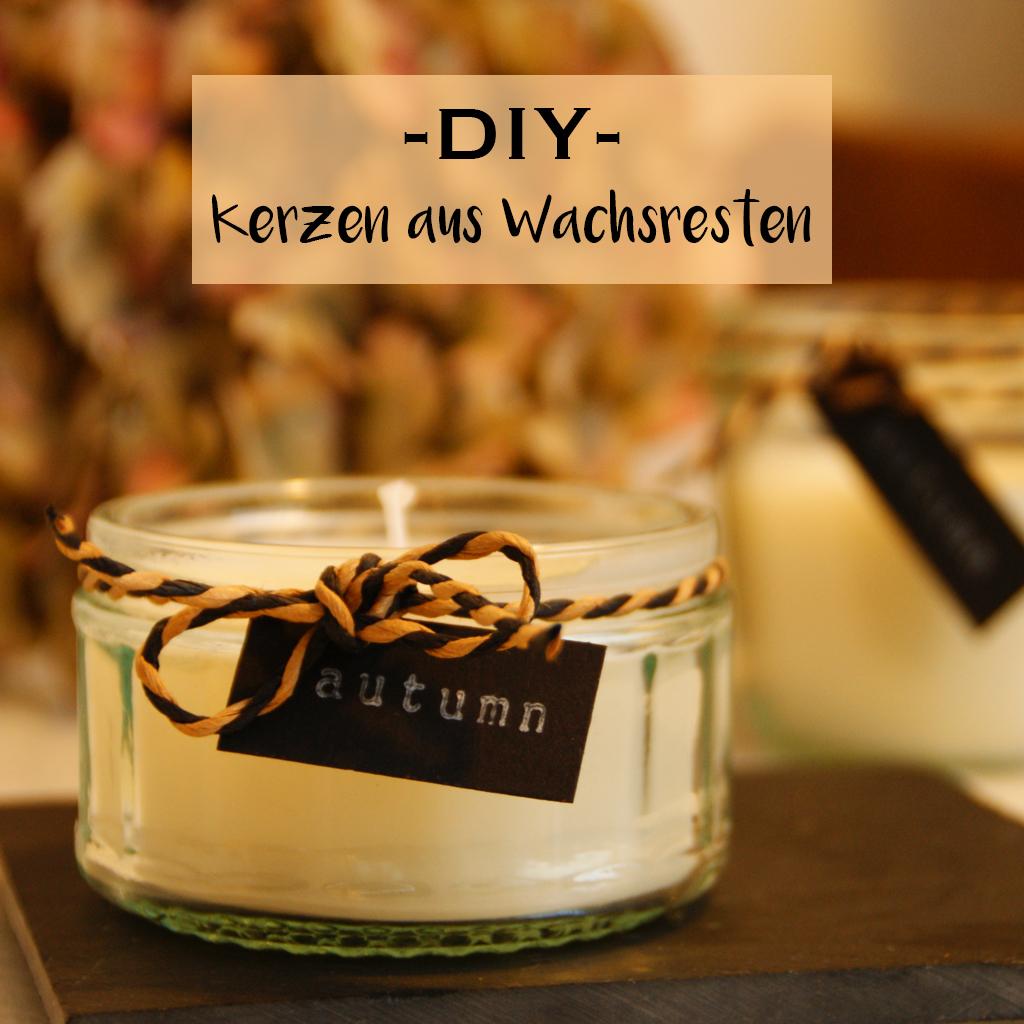 Kerzen aus Wachsresten selber machen - Kerzengießen DIY