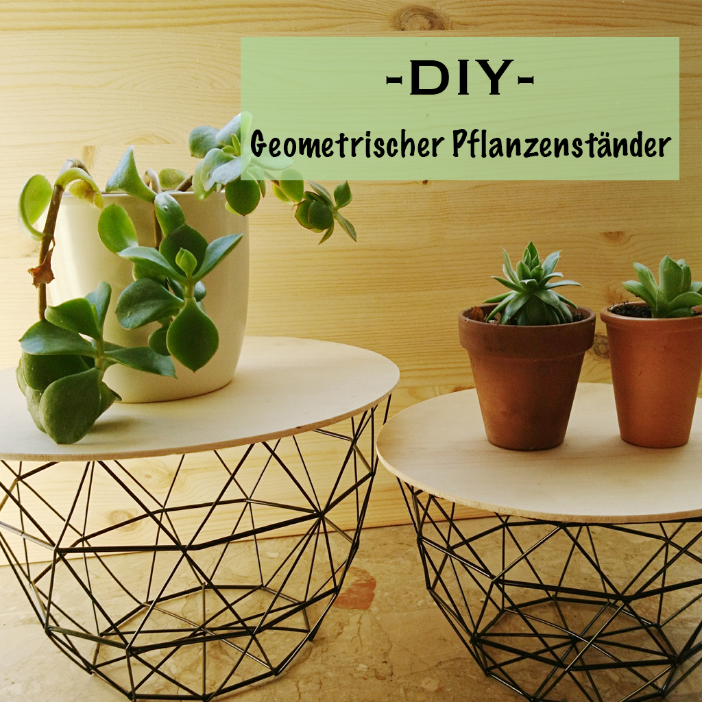 Geometrischer - Pflanzenständer - DIY