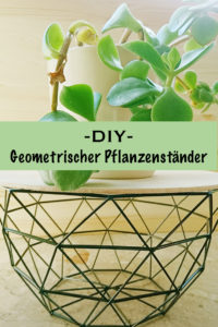 Geometrischer Pflanzenständer - DIY