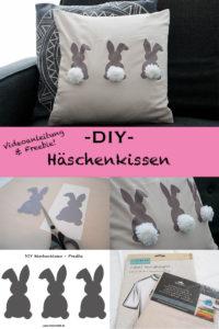 Häschenkissen DIY mit Videoanleitung & Freebie - ohne Nähen! - www.chaosmitstil.de