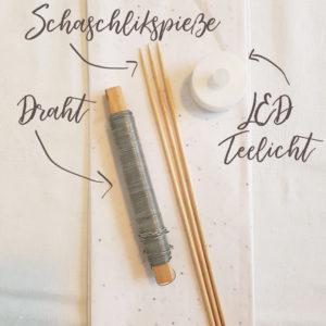 Material - DIY Tischlaterne aus Papier basteln