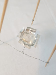 Grundgerüst - DIY Tischlaterne aus Papier basteln