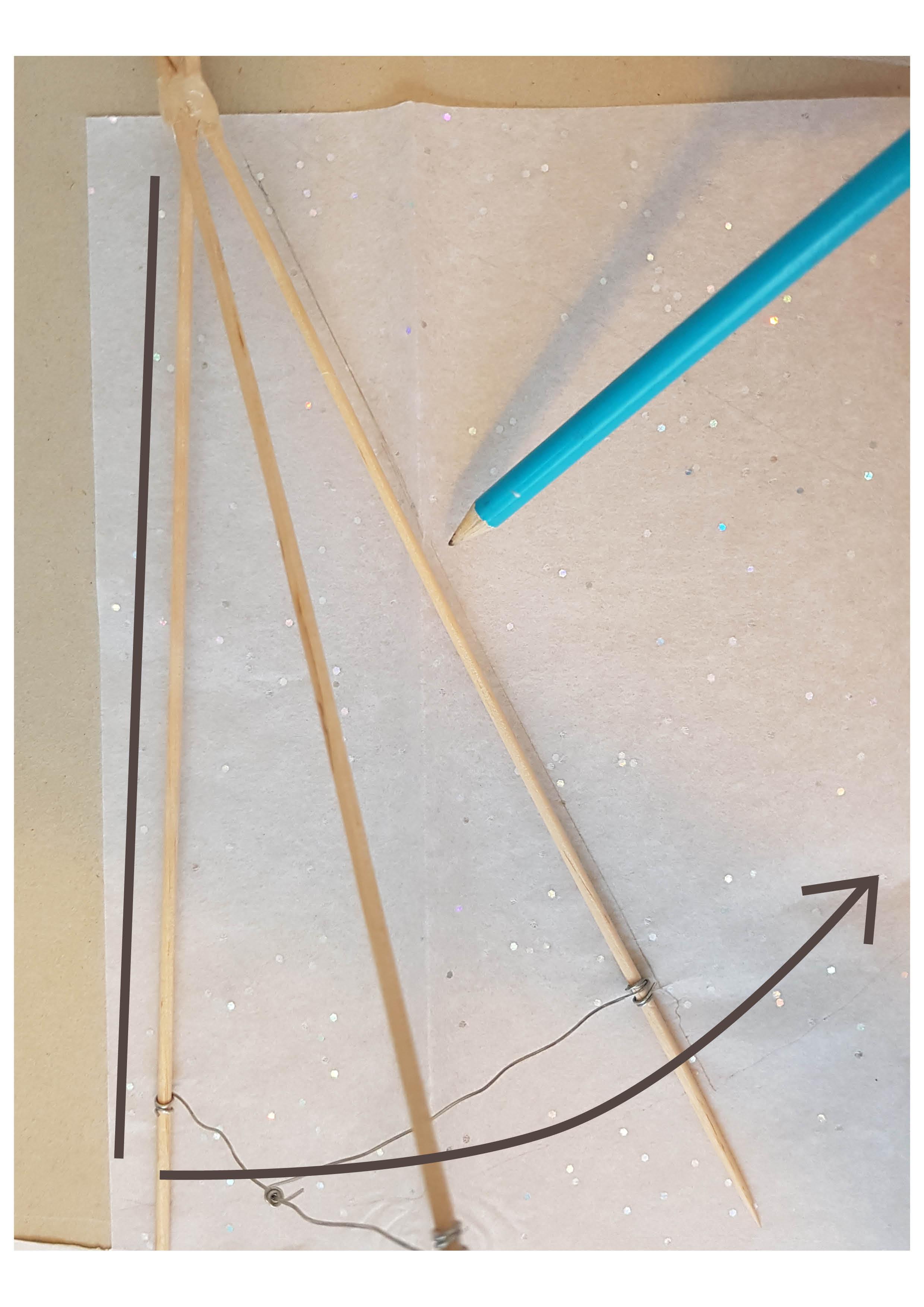 Zeichnung - DIY Tischlaterne aus Papier basteln