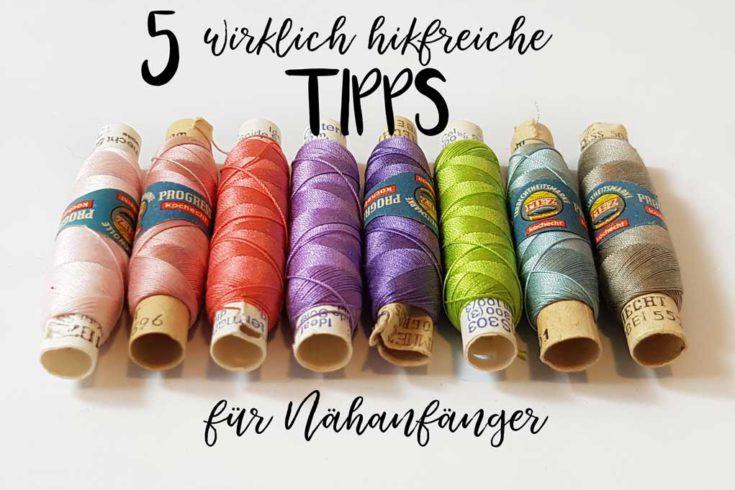 5 wirklich hilfreiche Tipps für Nähanfänger Titel - www.chaosmitstil.de