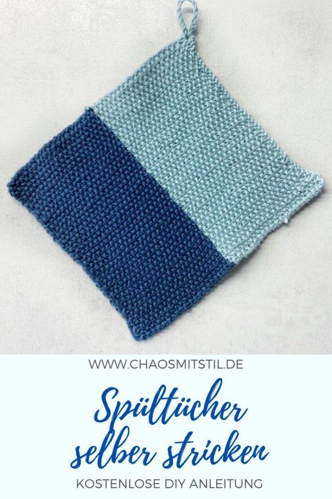 Spültücher aus Baumwollgarn stricken - kostenlose Anleitung - www.chaosmitstil.de