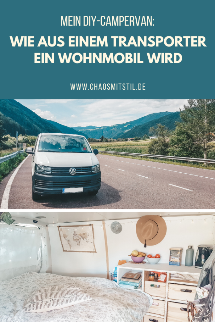 Pinterest-Pin: DIY Campervan - Busausbau -Chaosmitstil.de