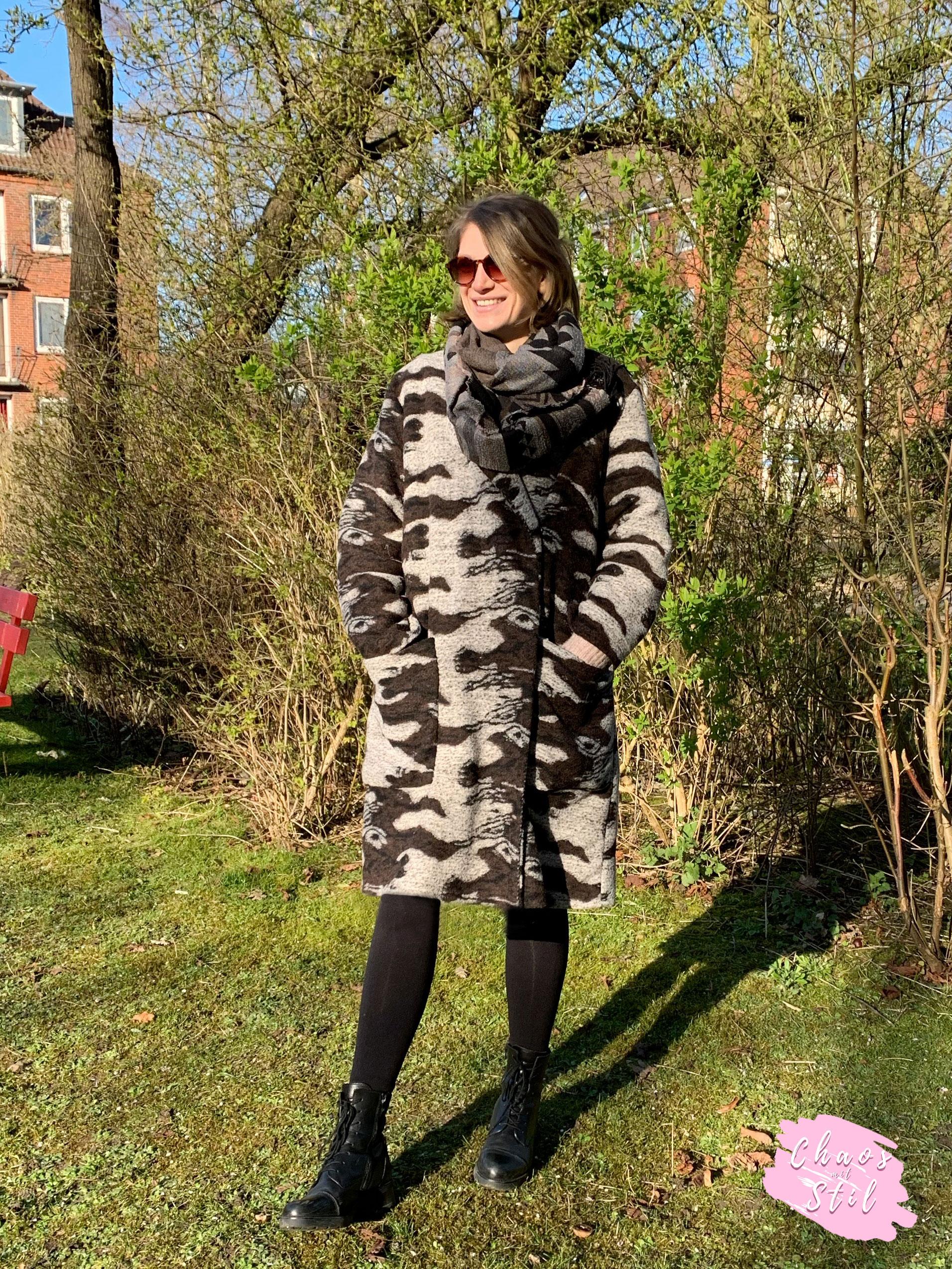 Vintage Oversized Mantel selber nähen: Burda Easy Schnitt